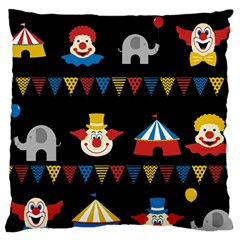 Circus  Large Cushion Case (two Sides) by Valentinaart