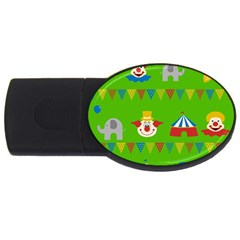 Circus Usb Flash Drive Oval (4 Gb) by Valentinaart