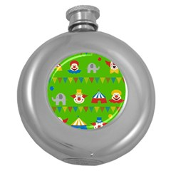 Circus Round Hip Flask (5 Oz) by Valentinaart
