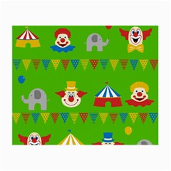Circus Small Glasses Cloth (2 Side) by Valentinaart