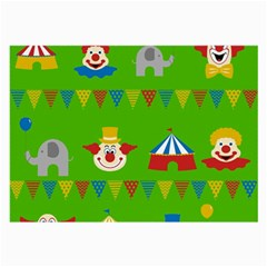 Circus Large Glasses Cloth by Valentinaart
