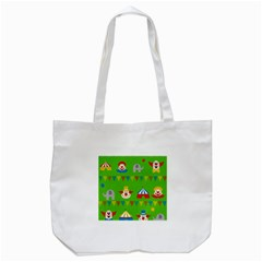 Circus Tote Bag (white) by Valentinaart