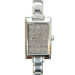 Silver Tropical Print Rectangle Italian Charm Watch by dflcprints