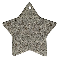 Silver Tropical Print Ornament (star) by dflcprints