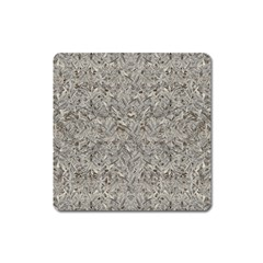 Silver Tropical Print Square Magnet by dflcprints