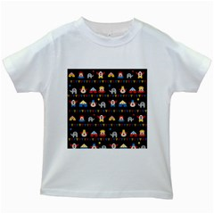 Circus Kids White T Shirts by Valentinaart