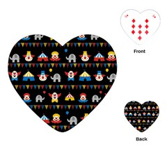 Circus Playing Cards (heart)  by Valentinaart