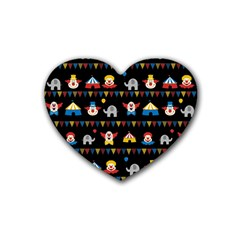Circus Heart Coaster (4 Pack)  by Valentinaart