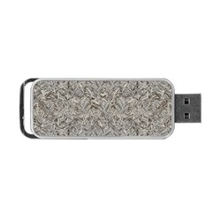 Silver Tropical Print Portable Usb Flash (two Sides) by dflcprints