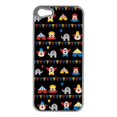 Circus Apple Iphone 5 Case (silver) by Valentinaart