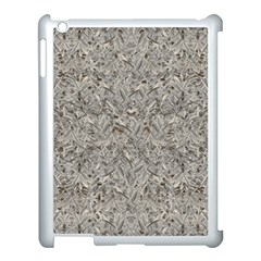 Silver Tropical Print Apple Ipad 3/4 Case (white) by dflcprints