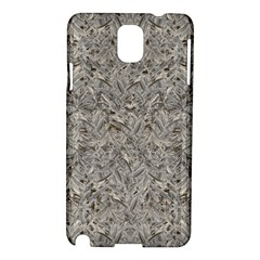 Silver Tropical Print Samsung Galaxy Note 3 N9005 Hardshell Case by dflcprints