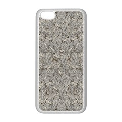 Silver Tropical Print Apple Iphone 5c Seamless Case (white) by dflcprints