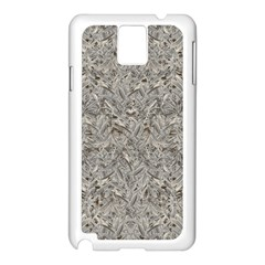 Silver Tropical Print Samsung Galaxy Note 3 N9005 Case (white) by dflcprints