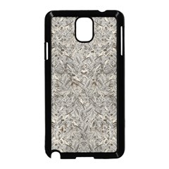 Silver Tropical Print Samsung Galaxy Note 3 Neo Hardshell Case (black) by dflcprints