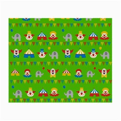 Circus Small Glasses Cloth by Valentinaart