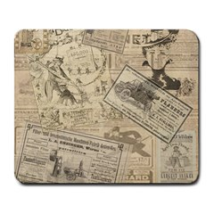 Vintage Newspaper  Large Mousepads by Valentinaart