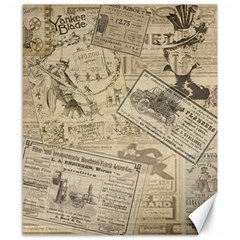 Vintage Newspaper  Canvas 8  X 10  by Valentinaart