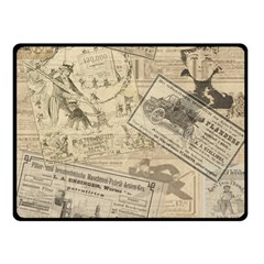 Vintage Newspaper  Fleece Blanket (small) by Valentinaart