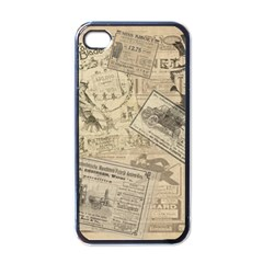 Vintage Newspaper  Apple Iphone 4 Case (black) by Valentinaart