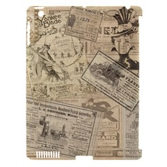 Vintage Newspaper  Apple Ipad 3/4 Hardshell Case (compatible With Smart Cover) by Valentinaart