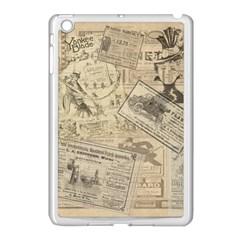 Vintage Newspaper  Apple Ipad Mini Case (white) by Valentinaart