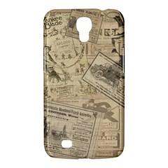 Vintage Newspaper  Samsung Galaxy Mega 6 3  I9200 Hardshell Case by Valentinaart