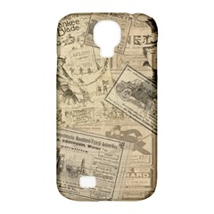 Vintage Newspaper  Samsung Galaxy S4 Classic Hardshell Case (pc+silicone) by Valentinaart