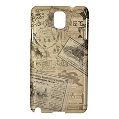 Vintage Newspaper  Samsung Galaxy Note 3 N9005 Hardshell Case by Valentinaart