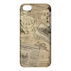 Vintage Newspaper  Apple Iphone 5c Hardshell Case