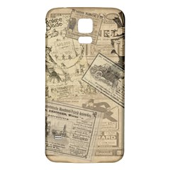Vintage Newspaper  Samsung Galaxy S5 Back Case (white) by Valentinaart