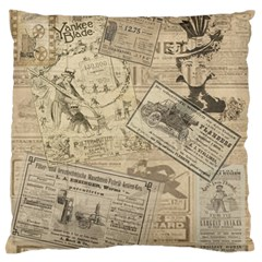 Vintage Newspaper  Standard Flano Cushion Case (two Sides) by Valentinaart