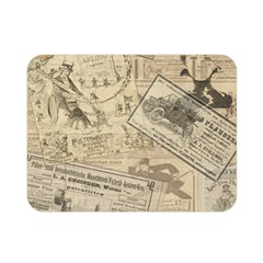 Vintage Newspaper  Double Sided Flano Blanket (mini)  by Valentinaart