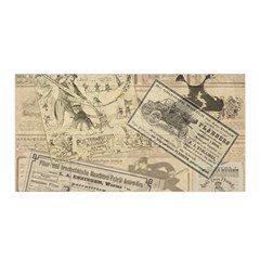 Vintage Newspaper  Satin Wrap by Valentinaart