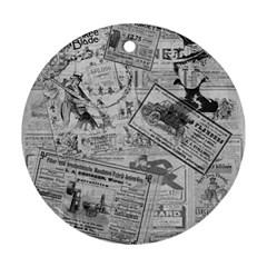 Vintage Newspaper  Ornament (round) by Valentinaart