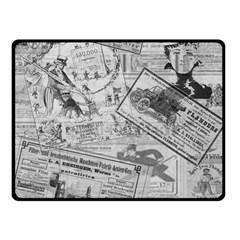 Vintage Newspaper  Fleece Blanket (small) by Valentinaart