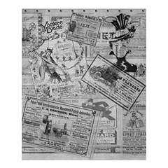 Vintage Newspaper  Shower Curtain 60  X 72  (medium)  by Valentinaart