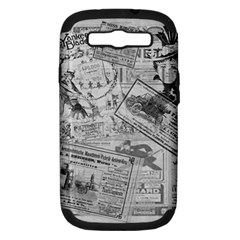 Vintage Newspaper  Samsung Galaxy S Iii Hardshell Case (pc+silicone) by Valentinaart