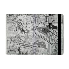 Vintage Newspaper  Apple Ipad Mini Flip Case by Valentinaart
