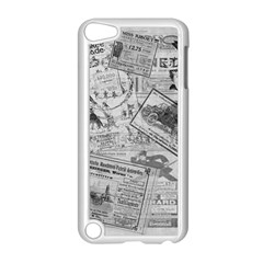 Vintage Newspaper  Apple Ipod Touch 5 Case (white) by Valentinaart