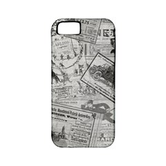 Vintage Newspaper  Apple Iphone 5 Classic Hardshell Case (pc+silicone) by Valentinaart