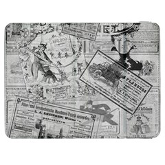 Vintage Newspaper  Samsung Galaxy Tab 7  P1000 Flip Case by Valentinaart
