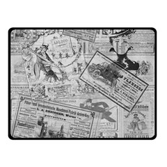 Vintage Newspaper  Double Sided Fleece Blanket (small)  by Valentinaart