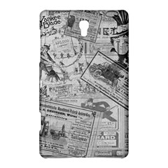 Vintage Newspaper  Samsung Galaxy Tab S (8 4 ) Hardshell Case  by Valentinaart