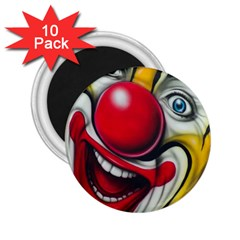 Clown 2 25  Magnets (10 Pack)  by Valentinaart