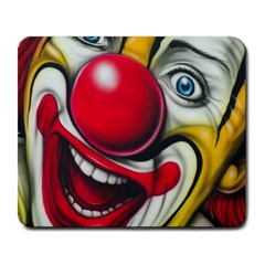 Clown Large Mousepads by Valentinaart