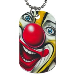 Clown Dog Tag (one Side) by Valentinaart