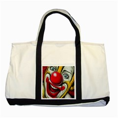 Clown Two Tone Tote Bag by Valentinaart