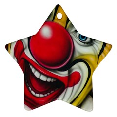 Clown Star Ornament (two Sides) by Valentinaart