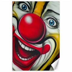Clown Canvas 12  X 18   by Valentinaart